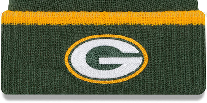 Packers 'RIBBED-UP' Green Knit Beanie Hat by New Era