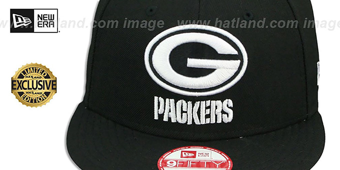 Packers 'TEAM-BASIC SNAPBACK' Black-White Hat by New Era