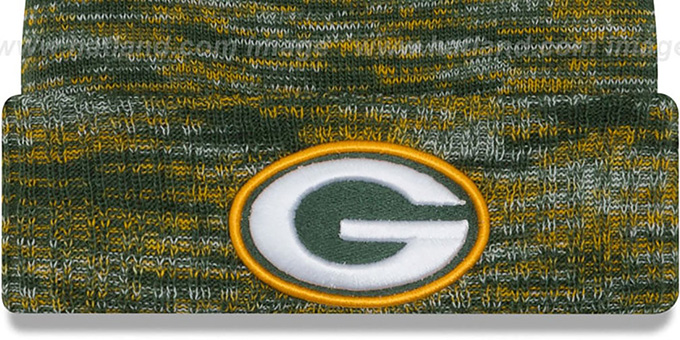 Packers 'TEAM-CRAZE' Green-Gold Knit Beanie Hat by New Era