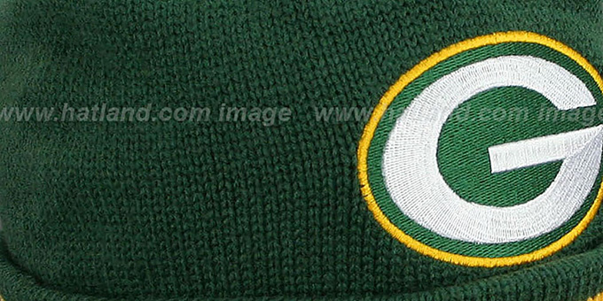 Packers 'XL-LOGO BEANIE' Green by Mitchell and Ness