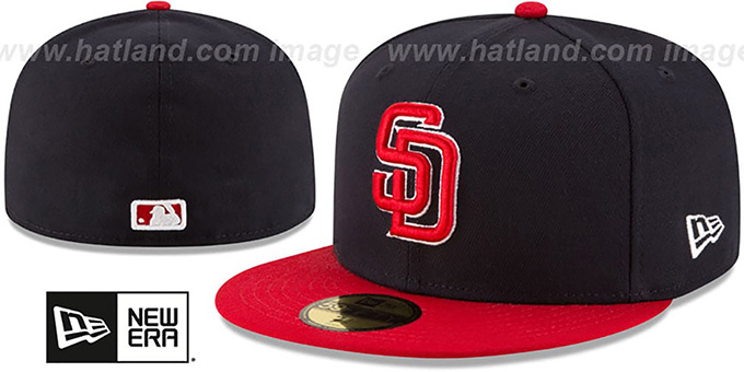 Padres 'COUNTRY COLORS' Navy-Red Fitted Hat by New Era