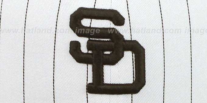 Padres 'PINSTRIPE BITD SNAPBACK' White-Brown Hat by New Era