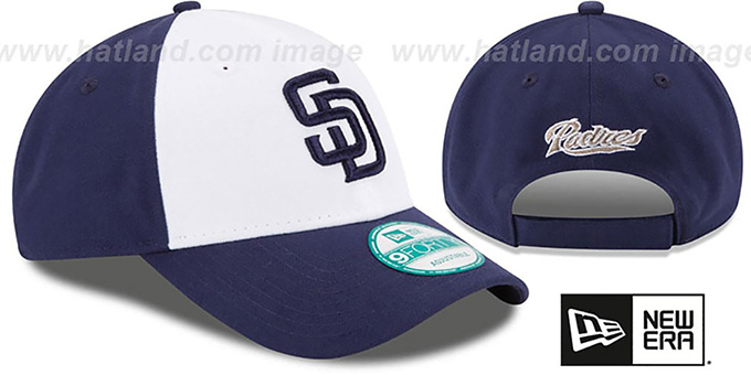 Padres 'THE-LEAGUE STRAPBACK' White-Navy Hat by New Era