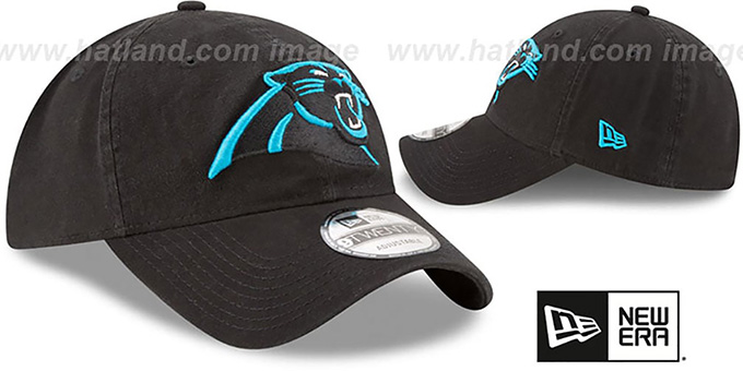 Panthers 'CORE-CLASSIC STRAPBACK' Black Hat by New Era