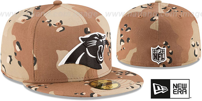 Panthers 'NFL TEAM-BASIC' Desert Storm Camo Fitted Hat by New Era