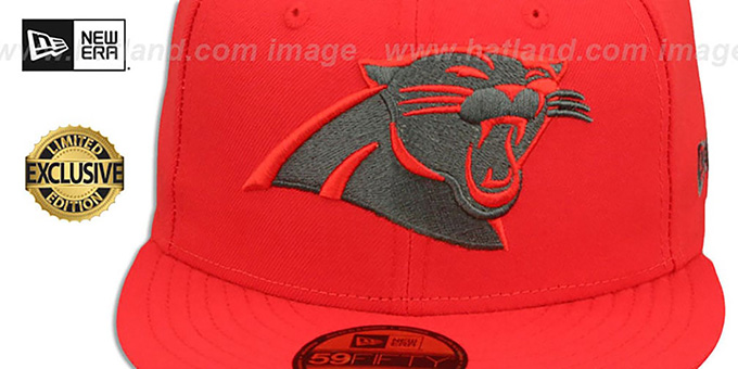 ca2014251 ... Panthers  NFL TEAM-BASIC  Fire Red-Charcoal Fitted Hat by New Era ...