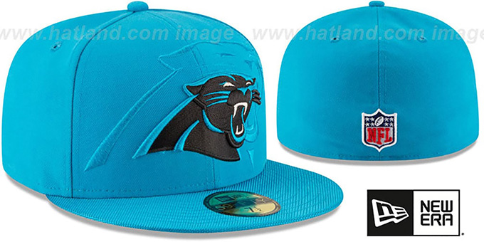 Carolina Panthers Stadium Shadow Blue Fitted Hat By New Era