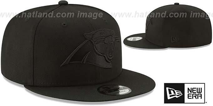 Panthers 'TEAM-BASIC BLACKOUT SNAPBACK' Hat by New Era