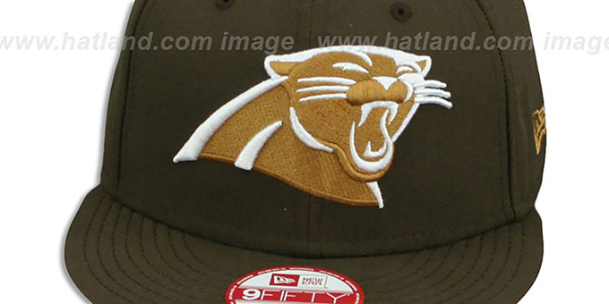 Panthers 'TEAM-BASIC SNAPBACK' Brown-Wheat Hat by New Era