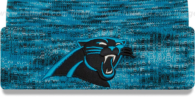 Panthers 'TEAM-CRAZE' Blue-Black Knit Beanie Hat by New Era