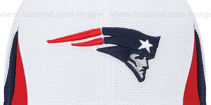 Patriots '2013 NFL TRAINING FLEX' White Hat by New Era