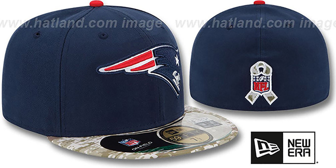 Patriots '2014 SALUTE-TO-SERVICE' Navy-Desert Fitted Hat by New Era