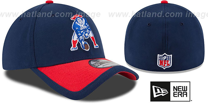 b99ff0ba6cd00 ... Patriots  2015 NFL THROWBACK STADIUM FLEX  Navy-Red Hat by New Era ...