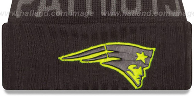 Patriots '2015 STADIUM' Charcoal-Yellow Knit Beanie Hat by New Era