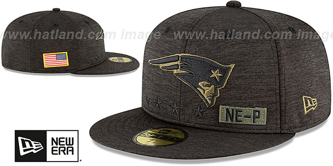 Patriots '2020 SALUTE-TO-SERVICE' ST Black Fitted Hat by New Era