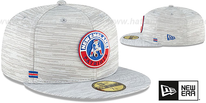 Patriots '2020 THROWBACK ONFIELD STADIUM' Heather Grey Fitted Hat by New Era