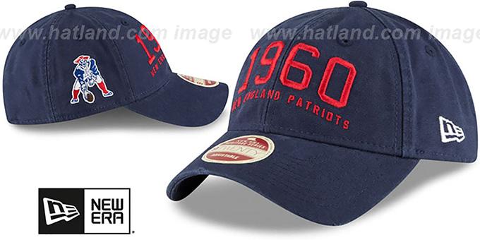 4d278cb25 ... Patriots  ESTABLISHED YEAR STRAPBACK  Navy Hat by New Era ...