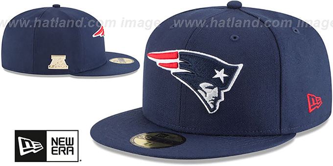 Patriots 'GILDED TURN' Navy Fitted Hat by New Era