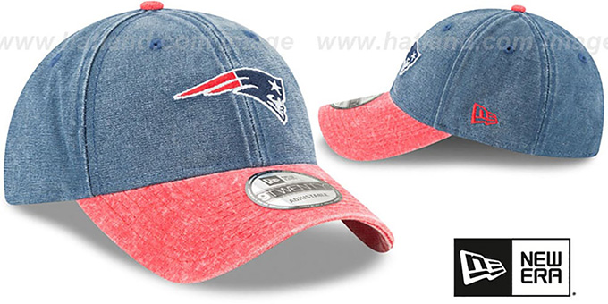 Patriots 'GW RUGGED CANVAS STRAPBACK' Navy-Red Hat by New Era