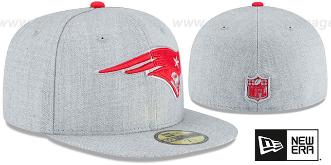 Patriots 'HEATHER TEAM-BASIC' Light Grey Fitted Hat by New Era