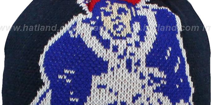 Patriots Kids Throwback Nfl Biggie Navy Knit Beanie Hat