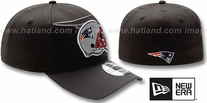 6cf49a034f5 New England Patriots NFL BLACK-CLASSIC FLEX Hat by New Era