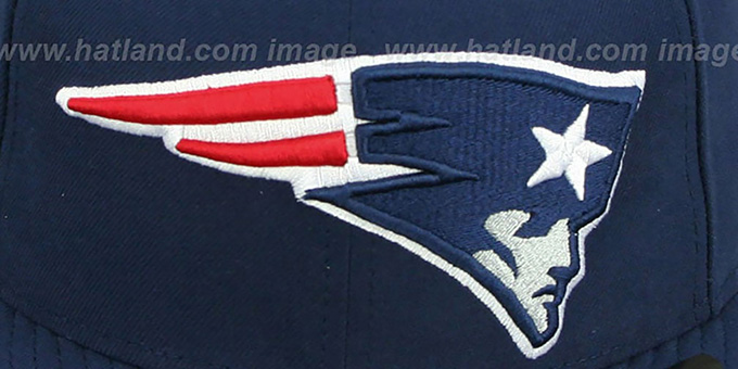 Patriots NFL 'MIGHTY-XL' Navy Fitted Hat by New Era