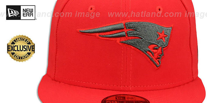 Patriots 'NFL TEAM-BASIC' Fire Red-Charcoal Fitted Hat by New Era