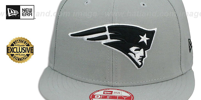 fe1205f4e ... Patriots 'NFL TEAM-BASIC SNAPBACK' Grey-Black Hat by New Era ...
