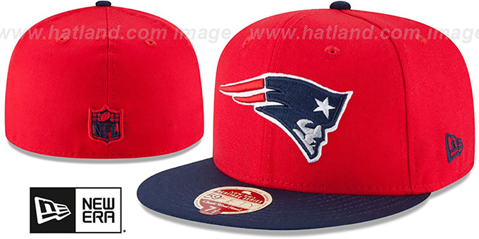 Patriots 'NFL WOOL-STANDARD' Red-Navy Fitted Hat by New Era