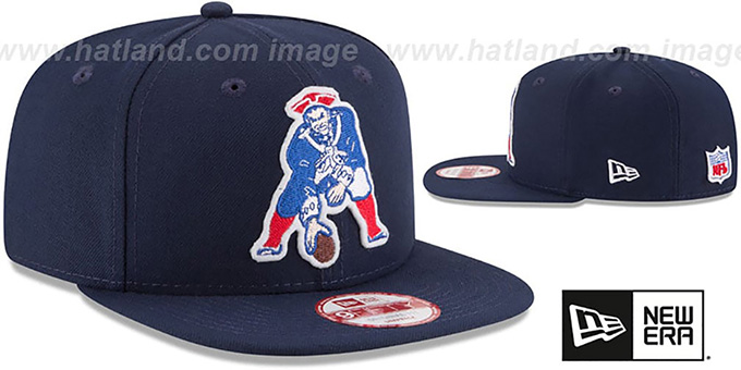 Patriots 'RETRO-BASIC SNAPBACK' Navy Hat by New Era