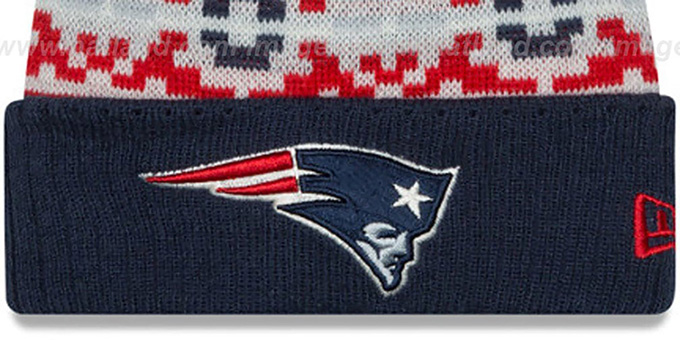 Patriots 'RETRO CHILL' Knit Beanie Hat by New Era