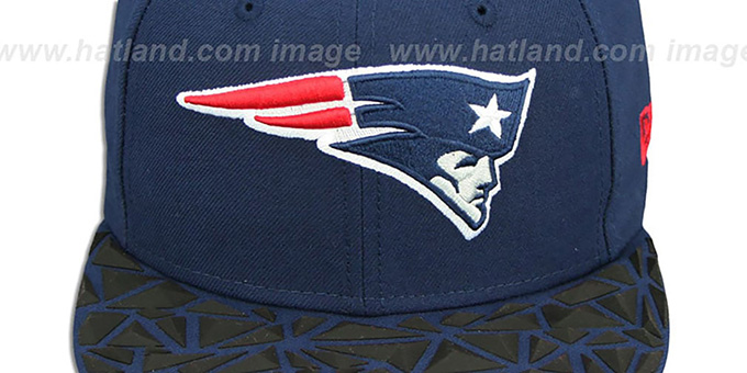 Patriots 'RUBBER MATTE SNAPBACK' Navy Hat by New Era