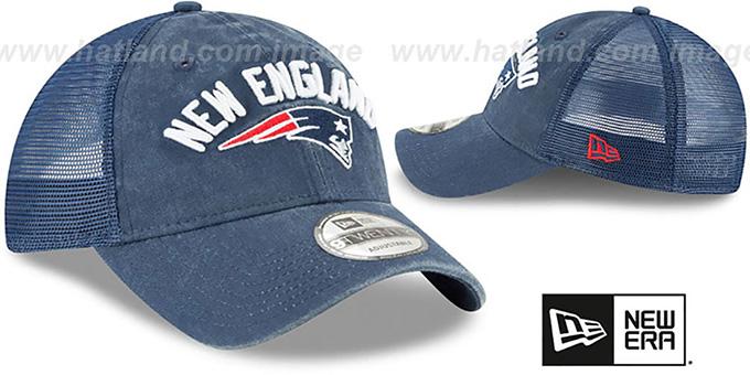 ... Patriots  RUGGED-TEAM TRUCKER SNAPBACK  Navy Hat by New Era ... 0a14bd5b0d48