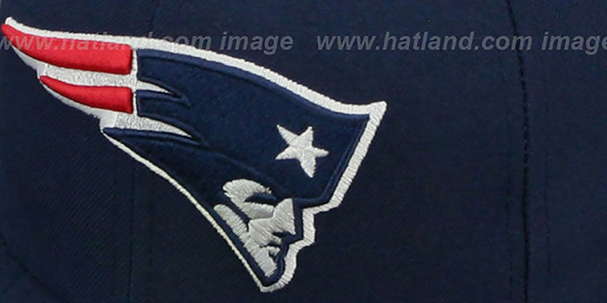 Patriots 'SIDE TEAM-PATCH' Navy Fitted Hat by New Era
