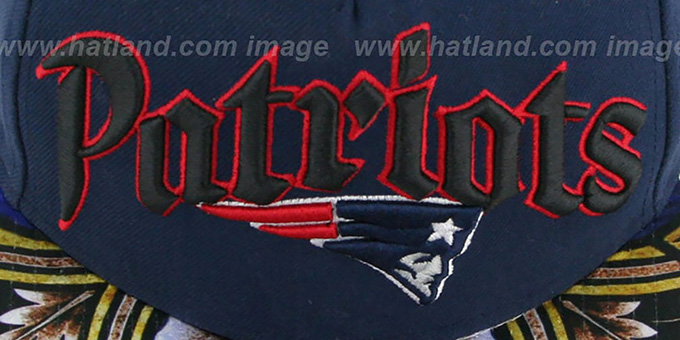 Patriots 'STAIN GLASS SNAPBACK' Navy Hat by New Era