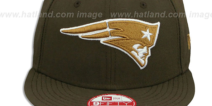 Patriots 'TEAM-BASIC SNAPBACK' Brown-Wheat Hat by New Era