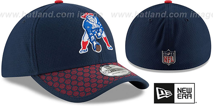 Patriots 'THROWBACK HONEYCOMB STADIUM FLEX' Navy Hat by New Era