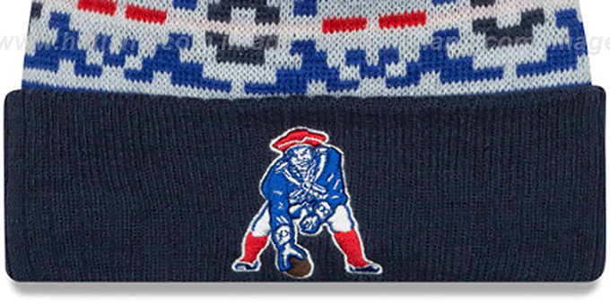 Patriots 'THROWBACK RETRO CHILL' Knit Beanie Hat by New Era