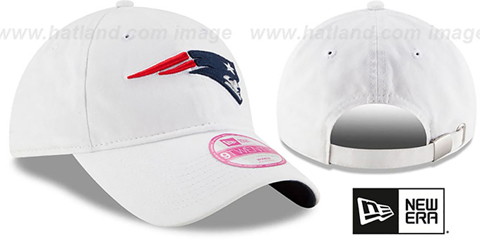 Patriots 'WOMENS PREFERRED PICK STRAPBACK' White Hat by New Era