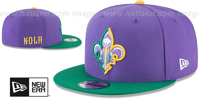 Pelicans 'CITY-SERIES SNAPBACK' Purple-Green Hat by New Era