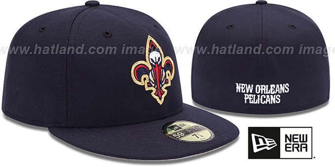 Pelicans 'INAUGURAL FLEUR-DE-LIS' Navy Fitted Hat by New Era