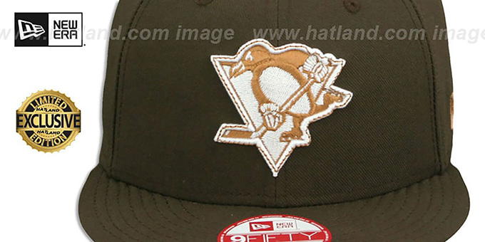 Penguins 'TEAM-BASIC SNAPBACK' Brown-Wheat Hat by New Era