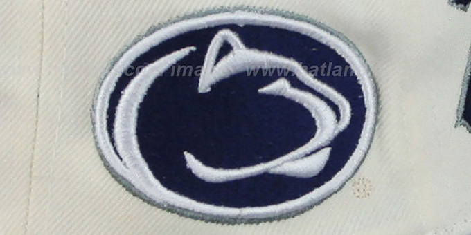 Penn State '2T HEADLINER SNAPBACK' White-Navy Hat by Zephyr