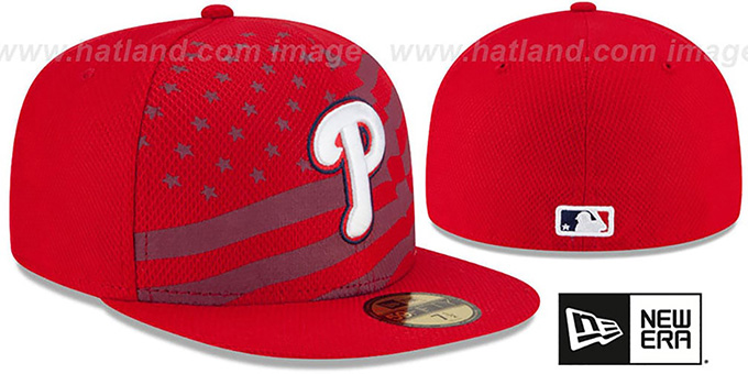 Phillies '2015 JULY 4TH STARS N STRIPES' Hat by New Era