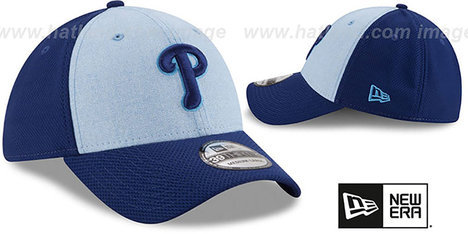 Phillies '2018 FATHERS DAY FLEX' Sky-Royal Hat by New Era