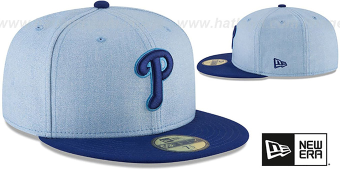 a2cd344903e16 ... Phillies  2018 FATHERS DAY  Sky-Royal Fitted Hat by New Era ...
