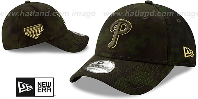 Phillies 2019 ARMED FORCES 'STARS N STRIPES STRAPBACK' Hat by New Era