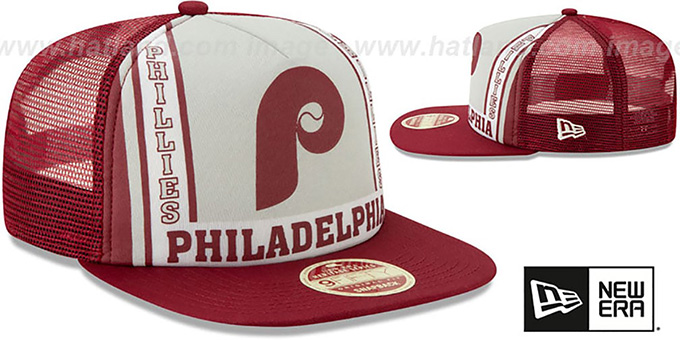 Phillies 'BANNER FOAM TRUCKER SNAPBACK' Hat by New Era