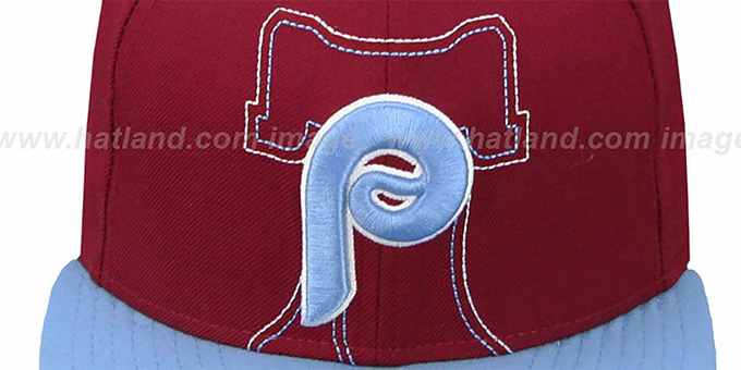 Phillies COOP 'NEW MIXIN' Burgundy-Sky Fitted Hat by New Era